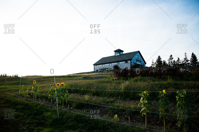 House in an organic farm