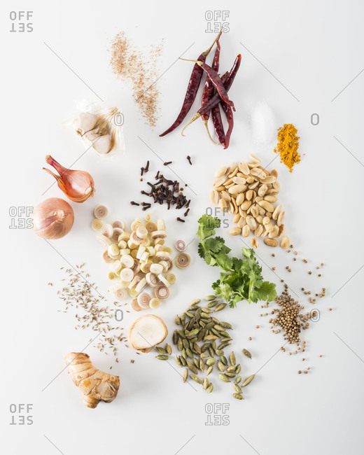 Ingredients for a curry dish