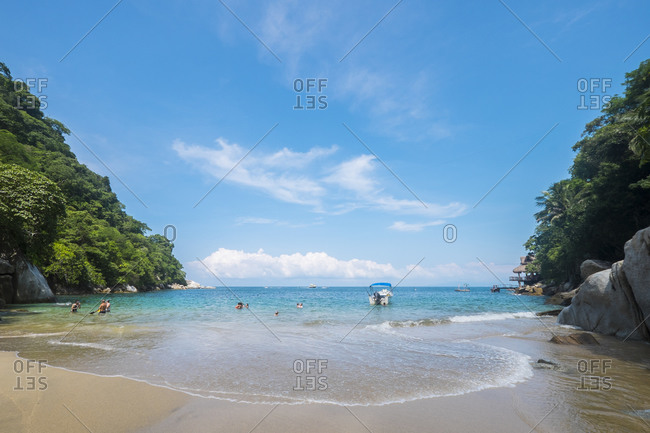Small Bay at Boca de Tomatlan, Banderas Bay