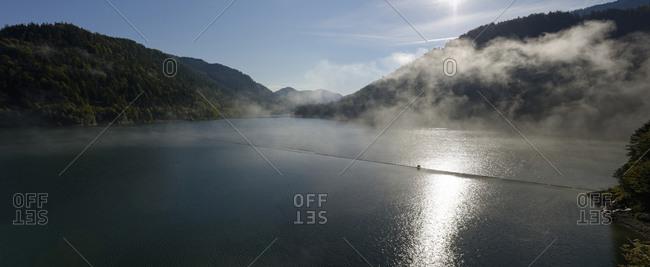 Morning mist at the Sylvenstein Dam, Bavaria