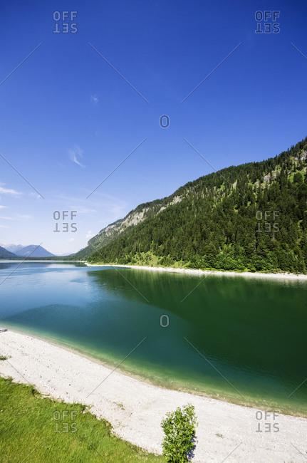 Sylvenstein Dam, Bad Toelz Wolfratshausen, Bavaria