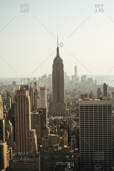 New York City - August 26, 2014: View of the Empire State Building