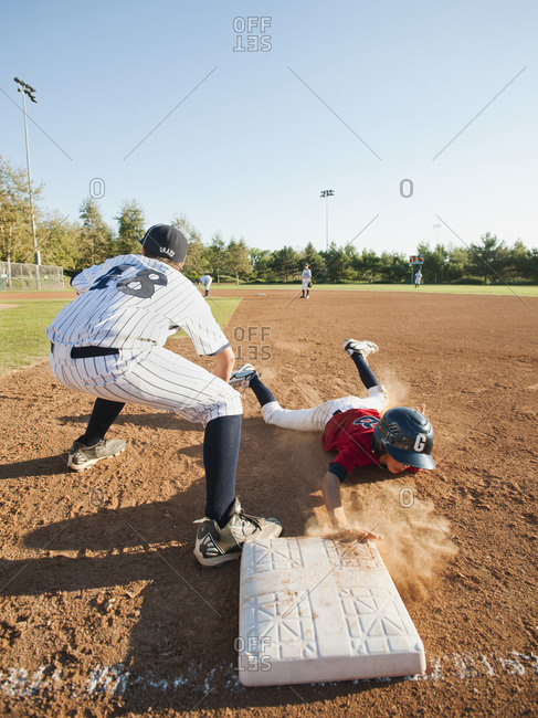 Boys playing baseball - Offset Collection