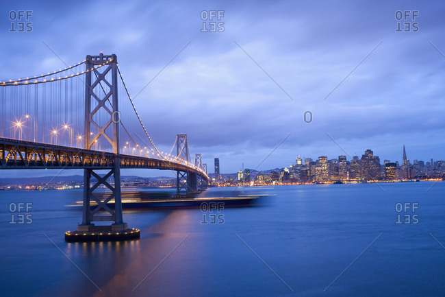 City skyline with Golden Gate Bridge, San Francisco