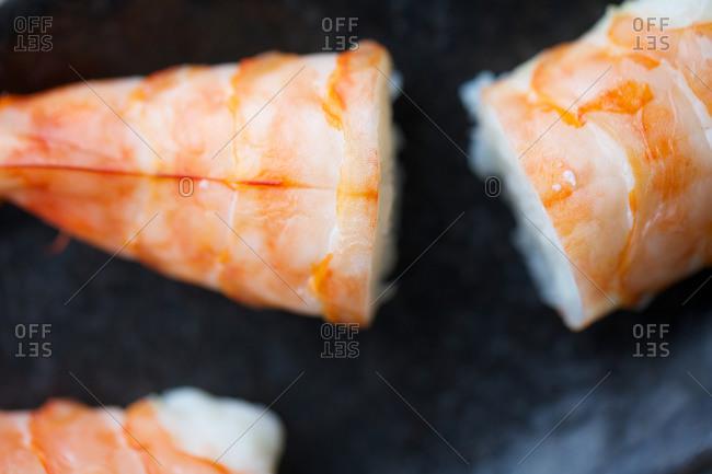 Fresh sushi with rice