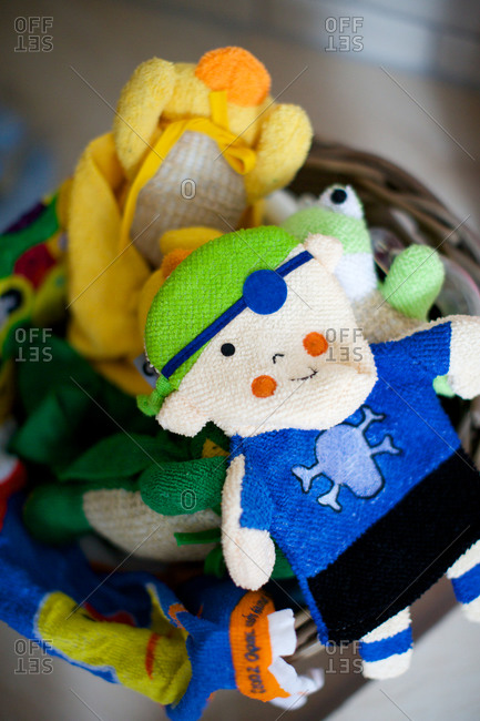 Knitted teddy for children