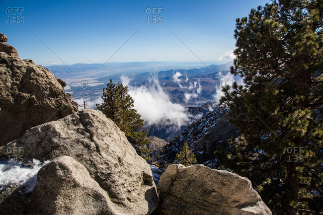 View of San Jacinto mountains in California, USA