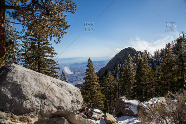 Landscape of San Jacinto mountains in California, USA
