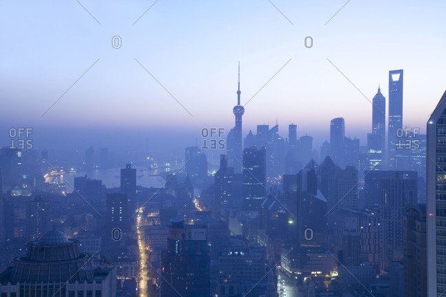 Evening over Pudong, Shanghai
