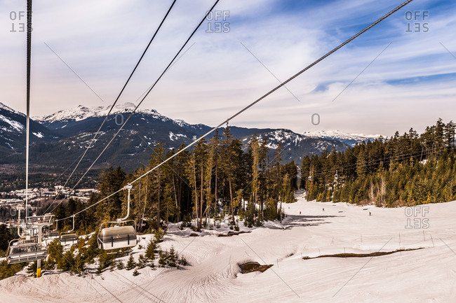 Empty ski lifts in Whistler