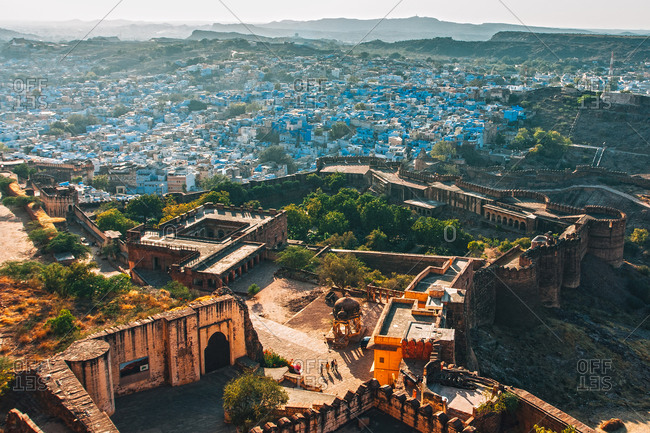View of Jodhpur, the blue city from Mehrangarh Fort, Johdpur