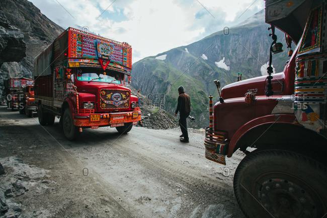 Kashmir, India - July 9, 2011: Zoji La a high mountain pass in Indian Kashmir