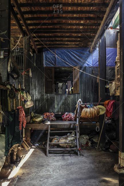 Interior of a building in Burma