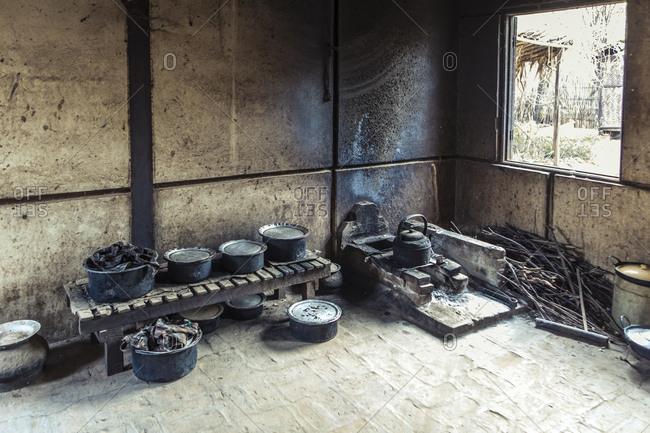 A kitchen in Burma