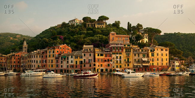 Buildings on the coast of Portofino, Italy