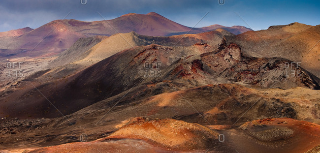 Timanfaya Volcano in Lanzarote, on the Canary Islands