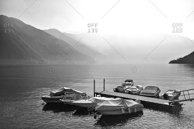 Boats on Lake Como, Italy