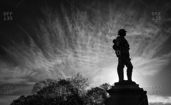 Soldier's monument in Winchester, Hampshire, England