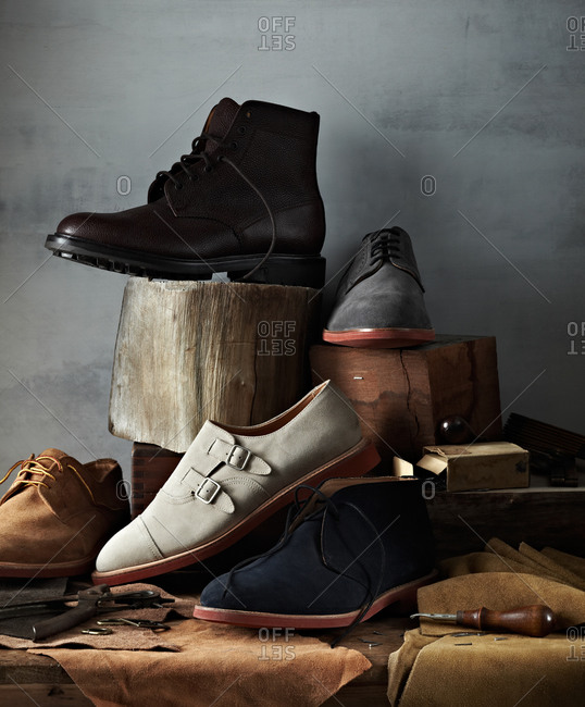 Collection of handcrafted shoes
