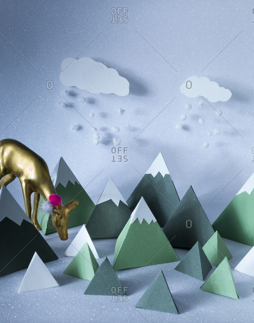Snowy mountain decorations - Offset Collection