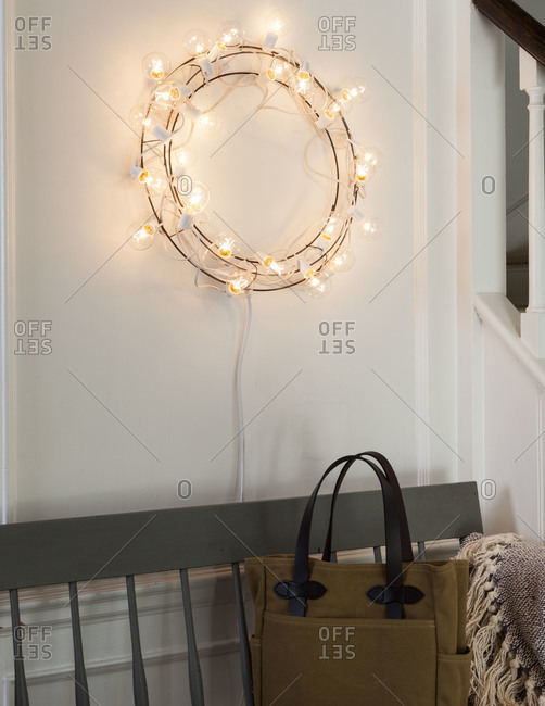 String Lights Interior Design : Artist: Burcu Avsar stock photos - OFFSET