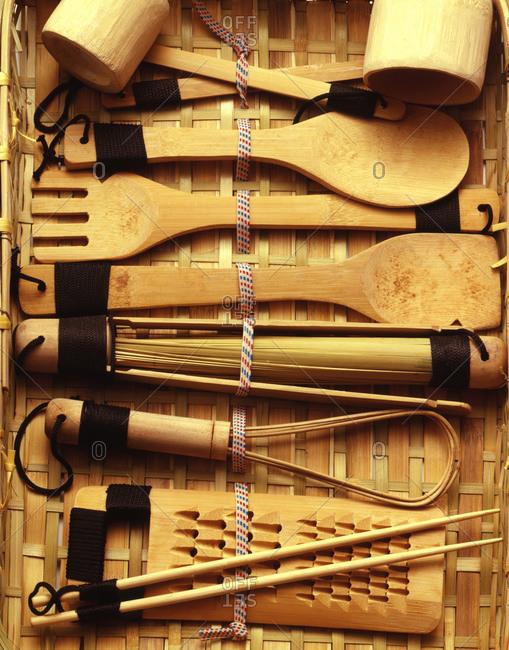 Bamboo servingware