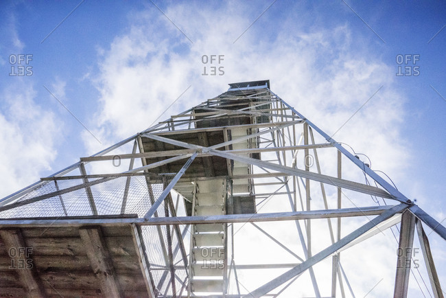 Fire-watch tower in upstate New York