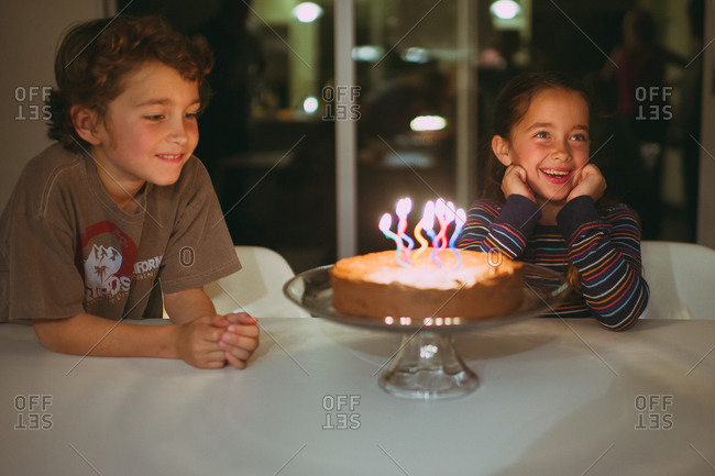 Children celebrating their birthday