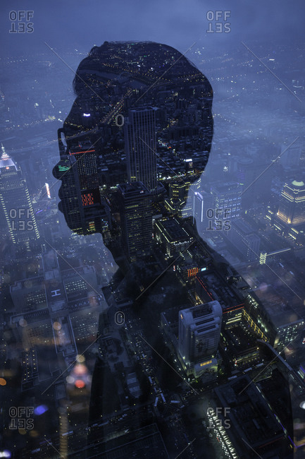 Profile of a man and a city
