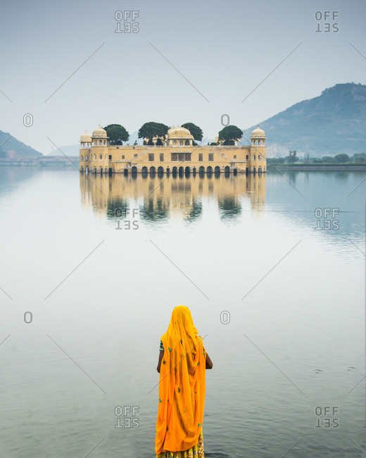 The Jal Mahal rises from the water