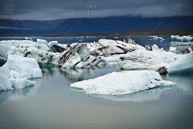 Jokulsarlon lagoon icebergs in Iceland