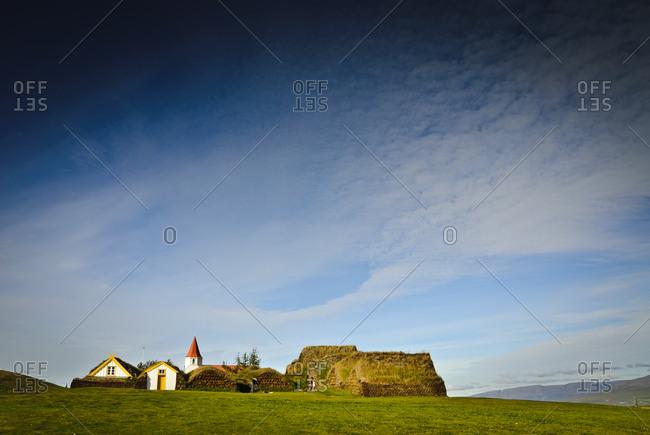 Glaumbaer turf house in Iceland