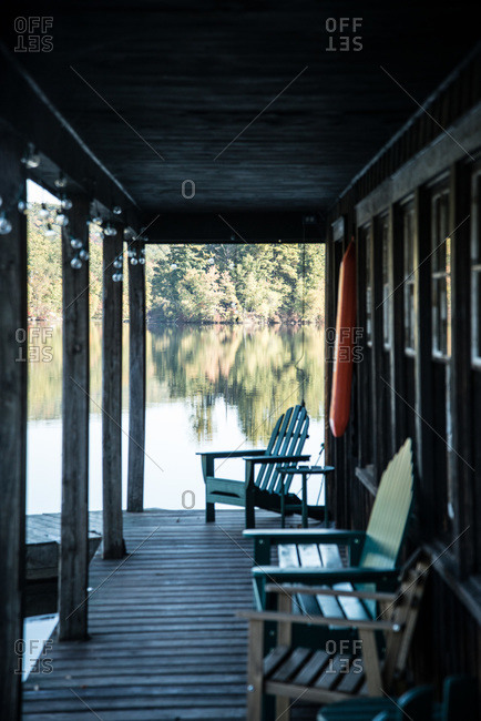 Old boat house in Cold Spring, New York