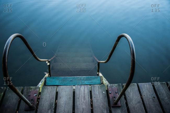 Steps leading into lake