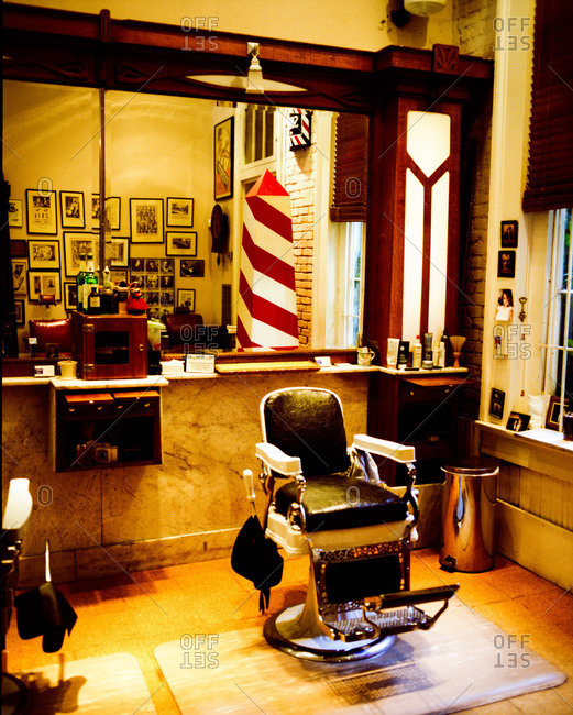 Barber shop interior - Offset Collection
