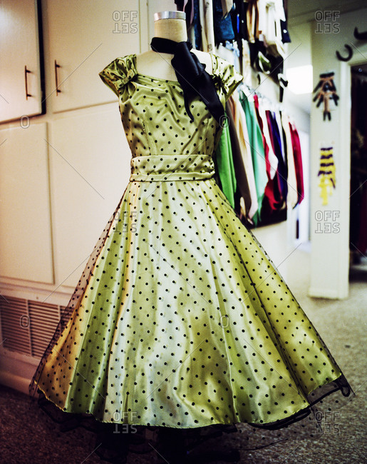 Vintage 50's dress on a mannequin