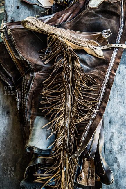Handmade leather custom riding chaps