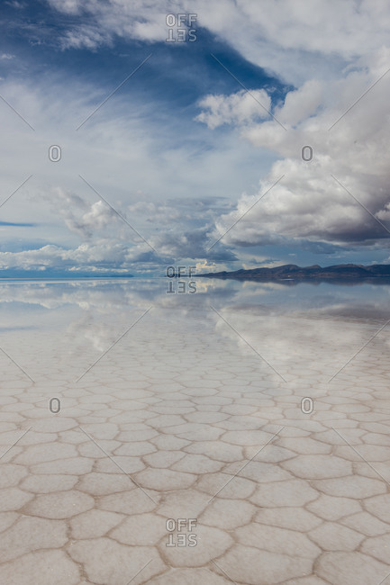 Salar de Uyuni, the world's largest salt flat in Bolivia