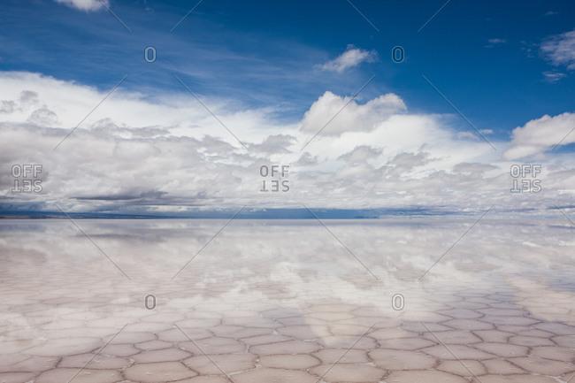 Salt lake at Salar de Uyuni, Bolivia