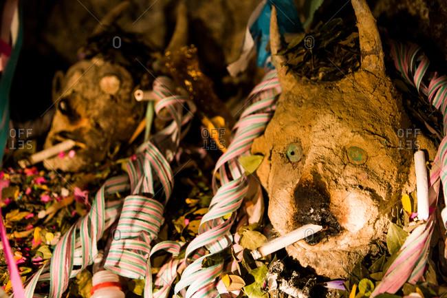 Ceremonial Masks in Bolivia