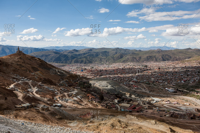 View of Bolivian town