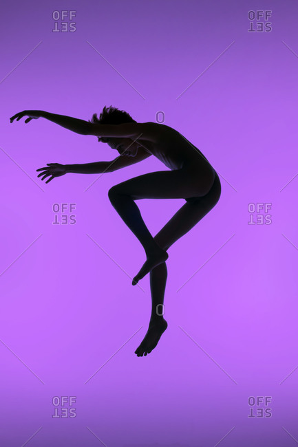 Male dancer jumping up
