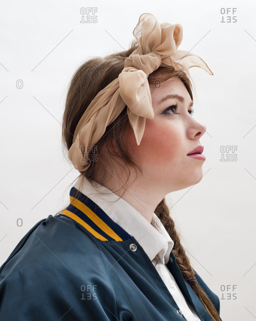Profile of a braided haired woman