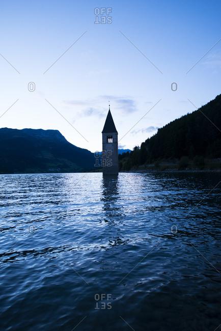 Bell Tower in Reschensee - Offset