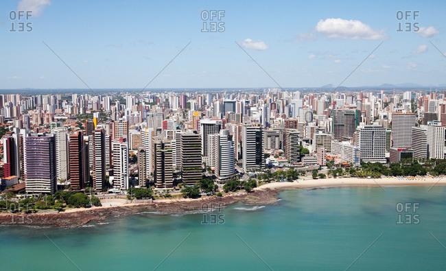Aerial view of Iracema Beach neighborhood, Fortaleza, Brazil
