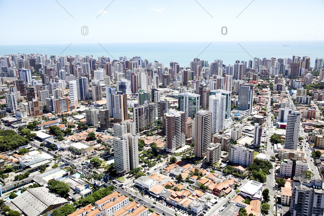 Aerial view of the city, Fortaleza, Brazil