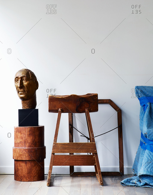 Sculpture in a studio