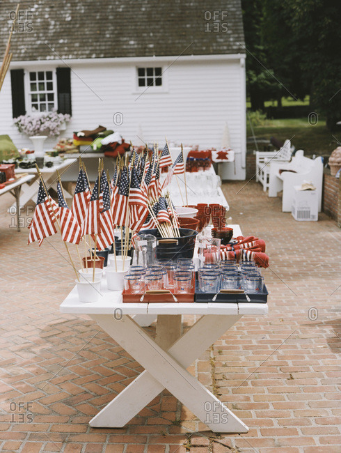 Fourth of July decorations at estate sale