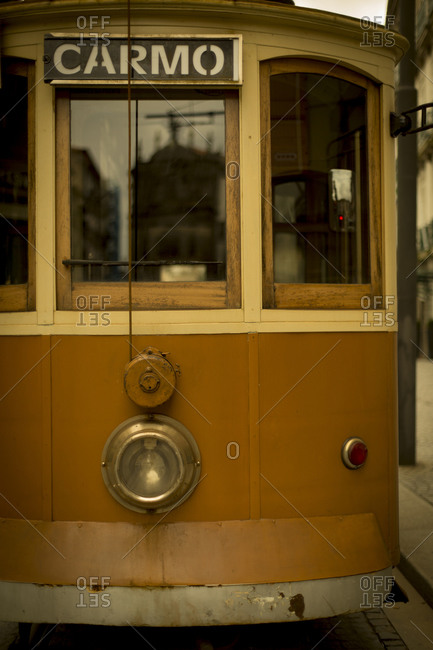 The old trolley of Porto waits for its riders in Portugal