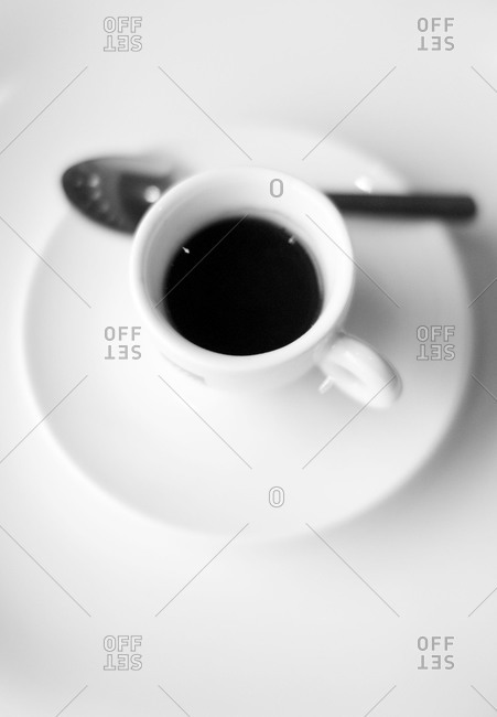Close up of a cup of espresso